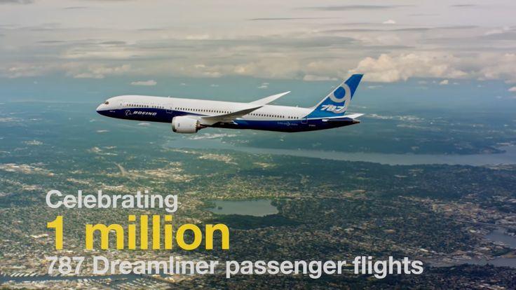 Flota Boeing 787 Dreamliner a operat peste 1 milion de zboruri comerciale