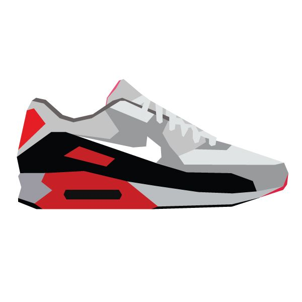 "Illustration of the Nike Air Max 90 ""Infrared"" #sneakers"