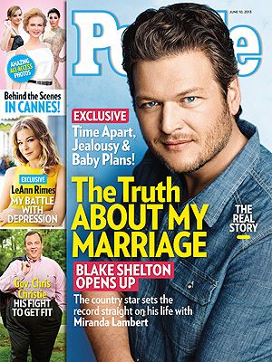Blake Shelton Married to Miranda Lambert, Talks Relationship Rumors