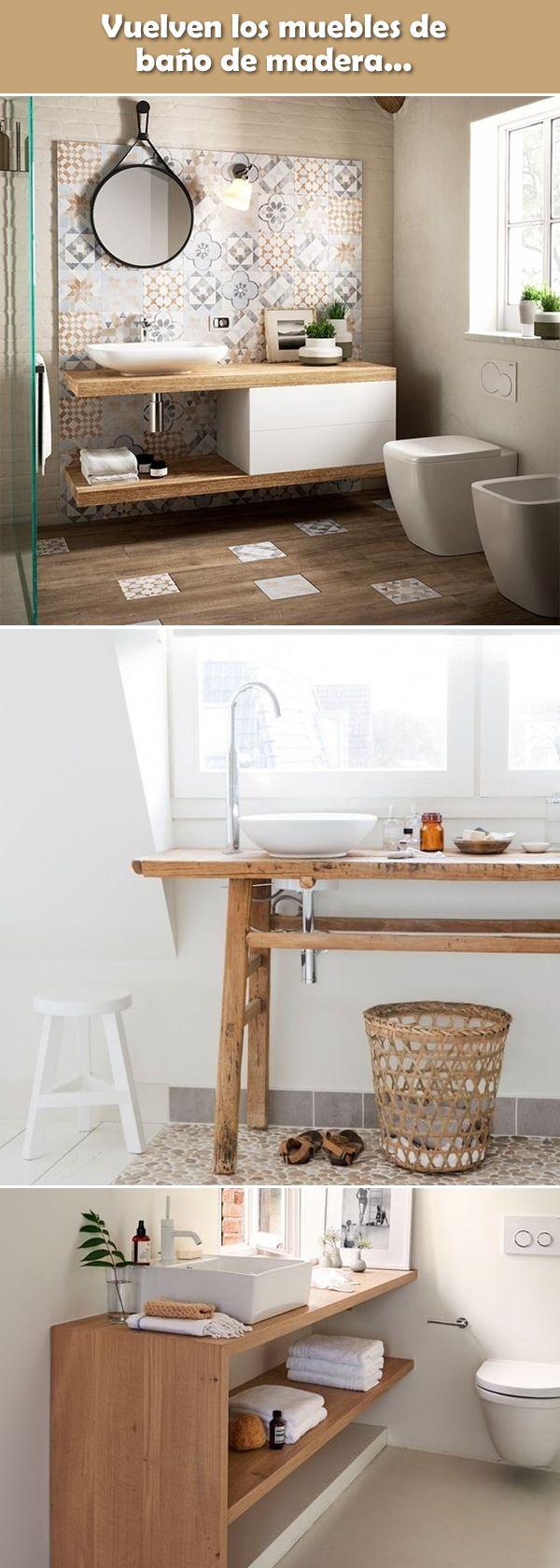 463 best ba os images on pinterest - Muebles de madera para banos ...