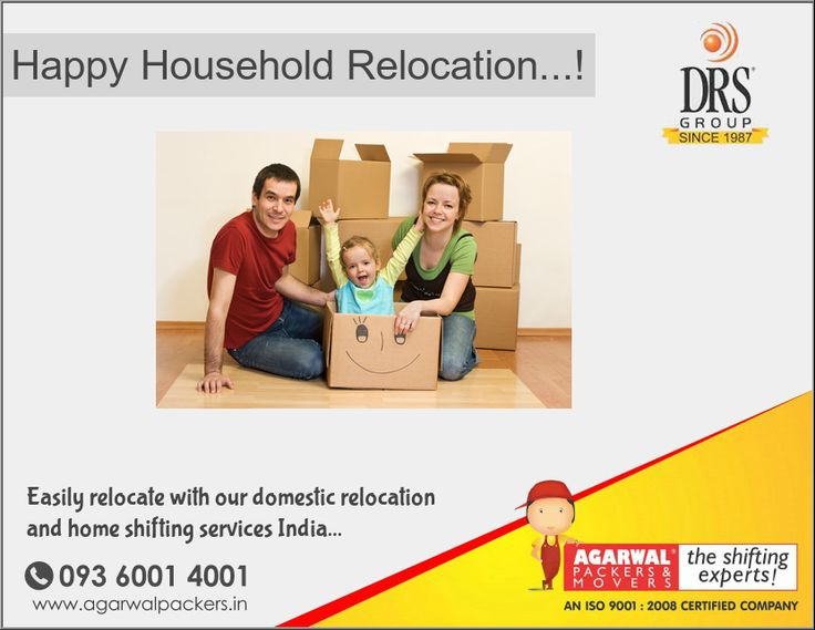 Happy Household Relocation...! Call us @ 09360014001 Agarwal Packers and Movers - DRS Group #happy #household #relocation #agarwal #packers #movers