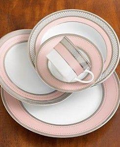 Perfectly pink - Ralph Lauren ribbon dinnerware