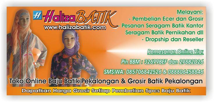 Salah satu Blogger Haliza Batik yang mengulas produk halus haliza secara rinci dan detail. Ada artikel tentang produk batik terbaru haliza.