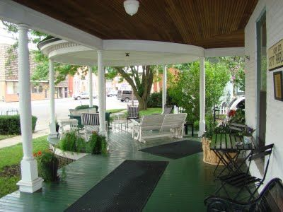 victorian porch glider | ... the wooden slat roof and gliders on the shiny green floored porch ... would LOVE to expand the corner of my wrap porch to have THIS!!