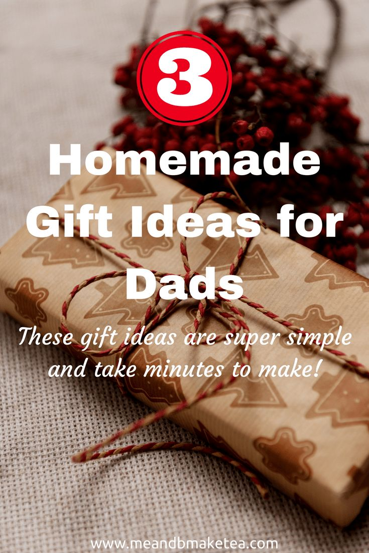 Homemade Gift Ideas for Dads and men at Christmas! It's tough to find DIY and homemade gifts for men i find! Here are some ideas and tutorials that make fab gifts in minutes! They are honestly so easy!