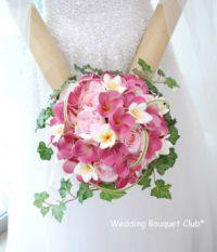 ピンクのプルメリアブーケ #ウェディングブーケ #ブライダルブーケ #結婚式 #ブーケ #weddingbouquet #bouquet #bridalbouquet #pink #plumeria