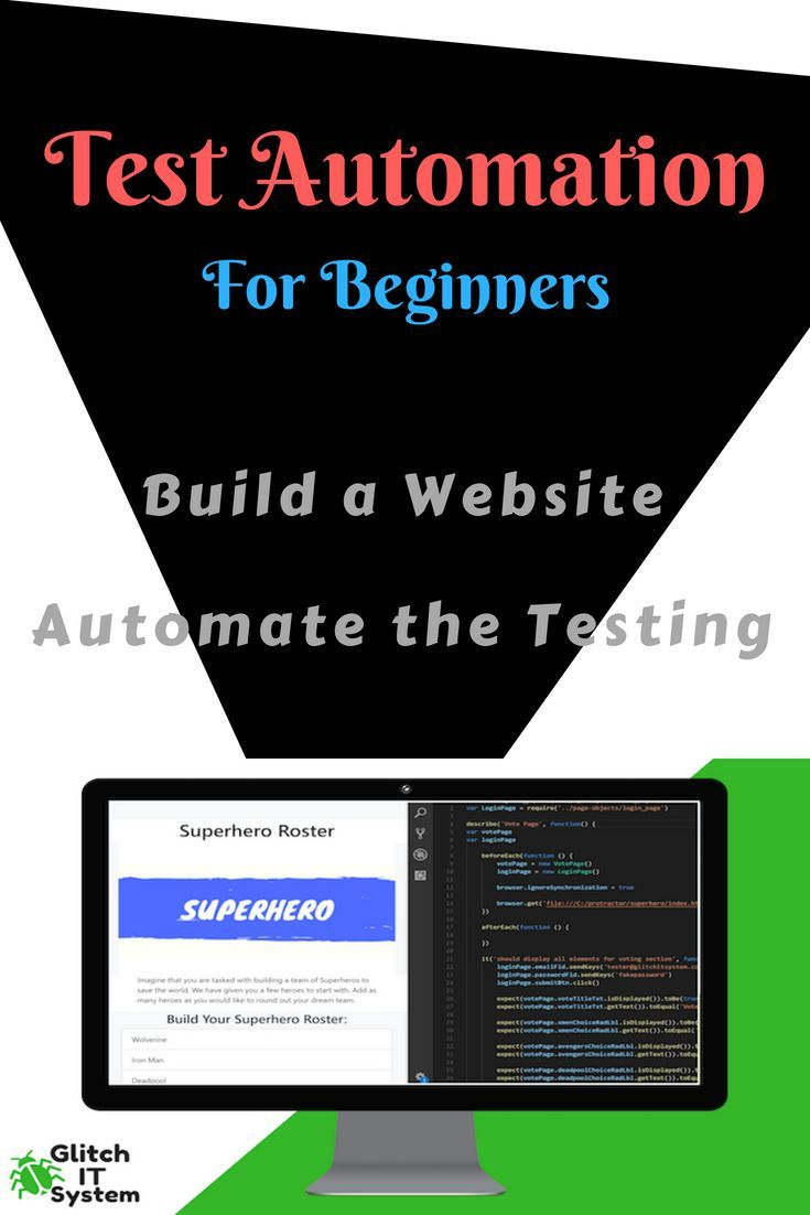 Learn Website Automation This Course Will Teach You Everything You Will Need To Know To Get Started Automating W Testing Strategies Website Testing Automation