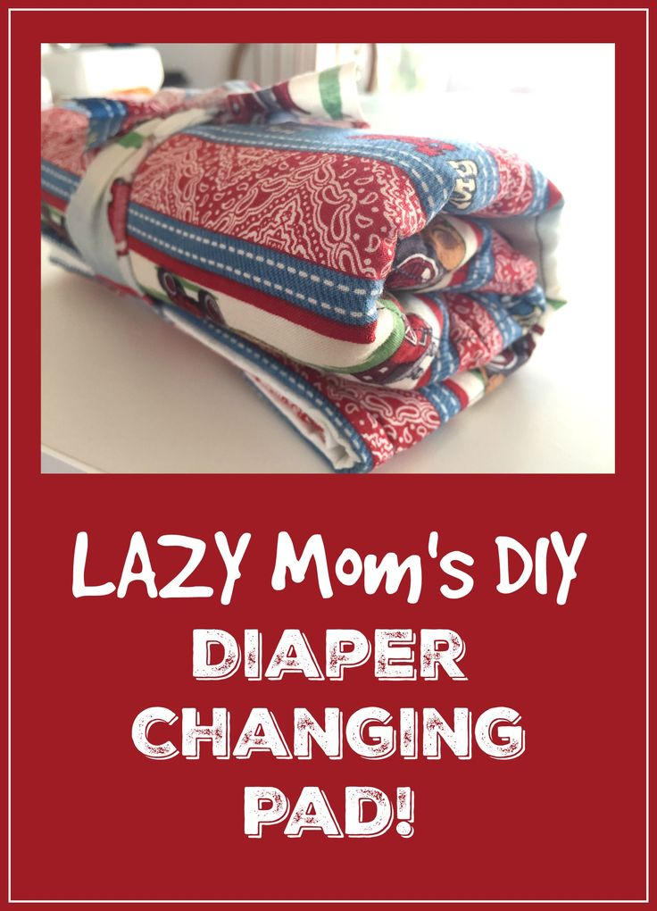 DIY DIaper changing pad