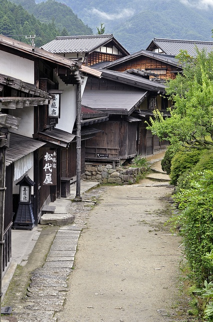 Tsumago-juku, Nagano, Japan.The real Japan of ancient times!