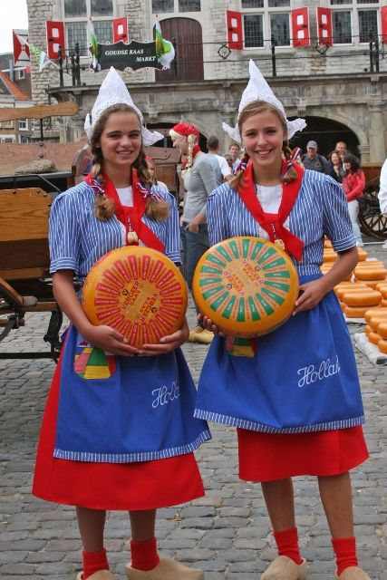 Dutch costumes...for cheese promotion, not serious folklore purposes.