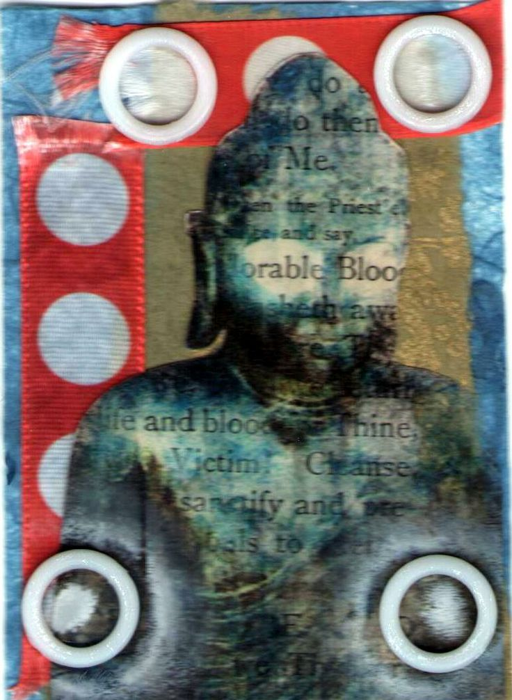 $5 Trading Card Buddha collage - 'Adorable Blood'. Email if interested in purchase --- lhenne4th@yahoo.com