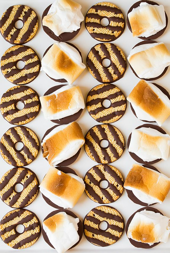fudge striped s'mores | @andwhatelse