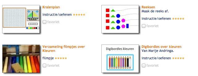 Tools bij 'Kleuren'