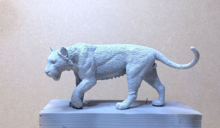 South China tiger model carved in resin prepared for painting, by Alfonso Jaraiz.