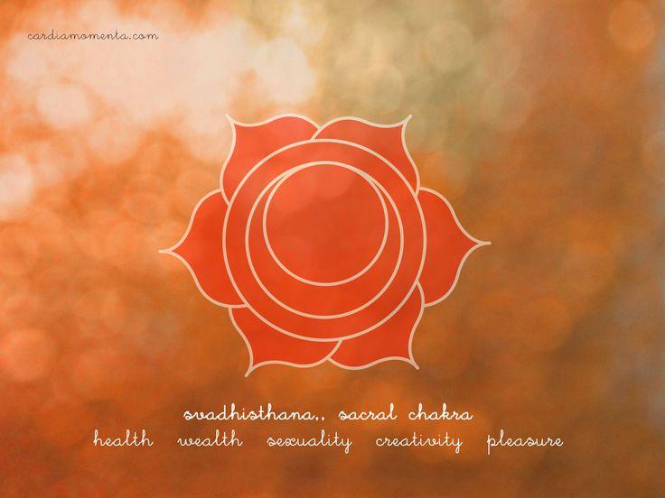 Svadhisthana, sacral chakra greeting card