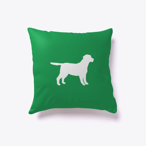 Labrador Retriever Dog Outline Pillow Green. Are you a lab lover? Get our Labrador Retriever outline pillow! Perfect for those with fine taste in dog breeds.