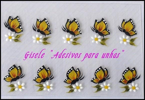 Os adesivos artesanais para unhas é fácil e prático de usar ,pois você gasta apenas alguns minutos para ficar com as unhas lindas e decoradas. R$5,00