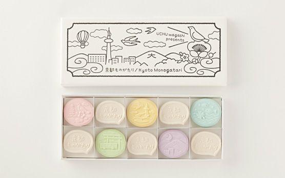 京都ものがたり UCHU wagashi : 手土産に嬉しい、オシャレなパッケージのお菓子 - NAVER まとめ