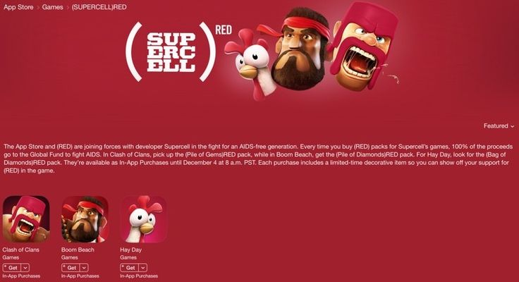 Apple Teams Up With Supercell for 2015 World AIDS Day Campaign - https://www.aivanet.com/2015/11/apple-teams-up-with-supercell-for-2015-world-aids-day-campaign-2/