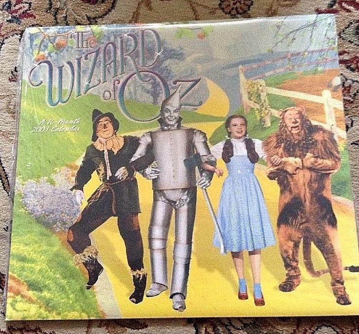 Wizard Of Oz Calendar Dorothy Tin Man Scarecrow Lion 2003 Calendar 16 Month