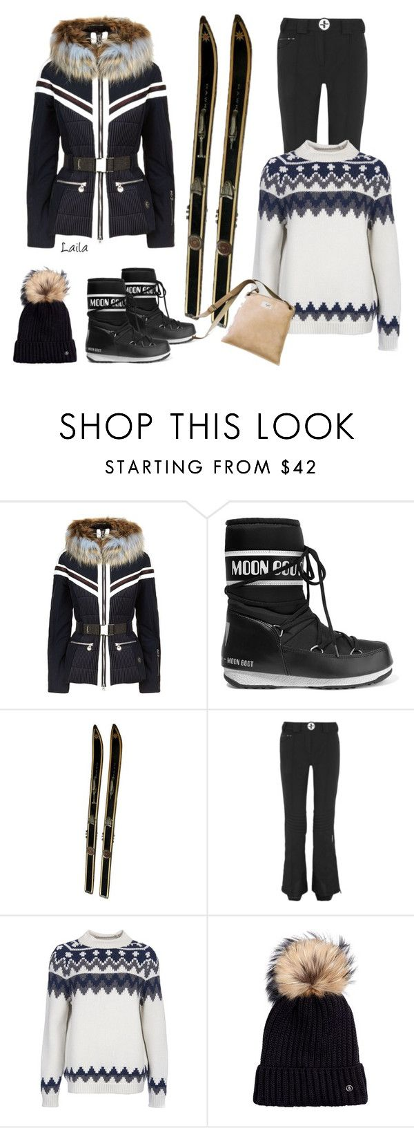"""""""Winter Weather"""" by laila-bergan ❤ liked on Polyvore featuring Sportalm, Moon Boot, Christian Lacroix, Barbour, Bogner and UGG Australia"""