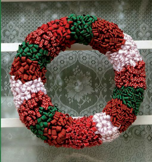 This DIY Christmas wreath is made out of foam form and various types of ribbon. Click on the picture for a step-by-step guide to making it!