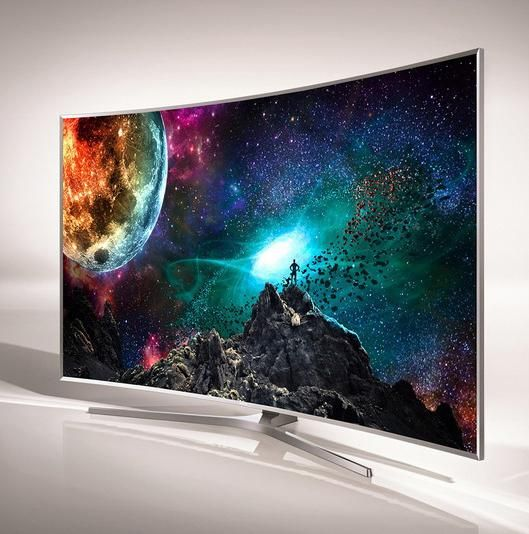 Samsung's JS9500 curved SUHD TV is an 88-inch behemoth.