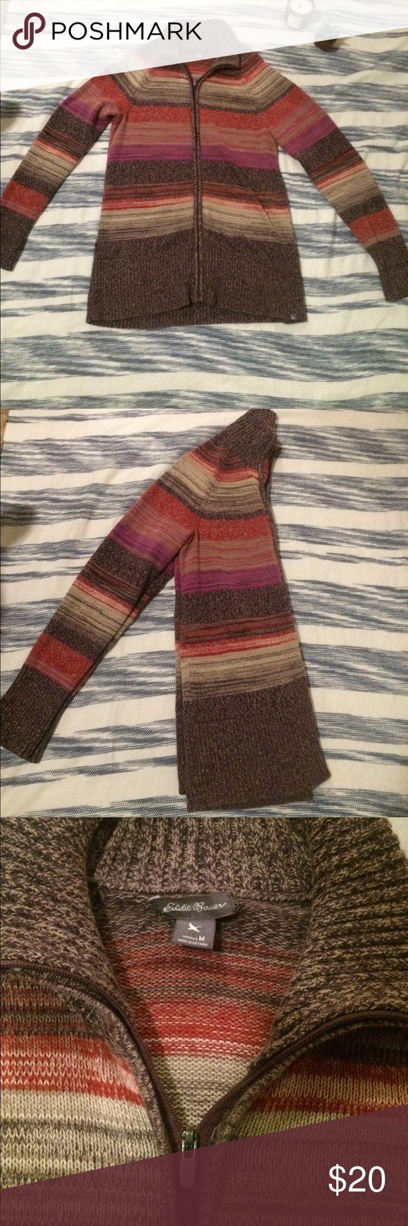 Sweater Super cute Eddie Bauer zip up sweater. Size medium. Eddie Bauer Sweaters
