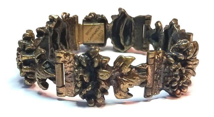 Pentti Sarpaneva Finland - Beautiful Vintage Bronze Bracelet - 2618 - Signed #SarpanevaJewelry