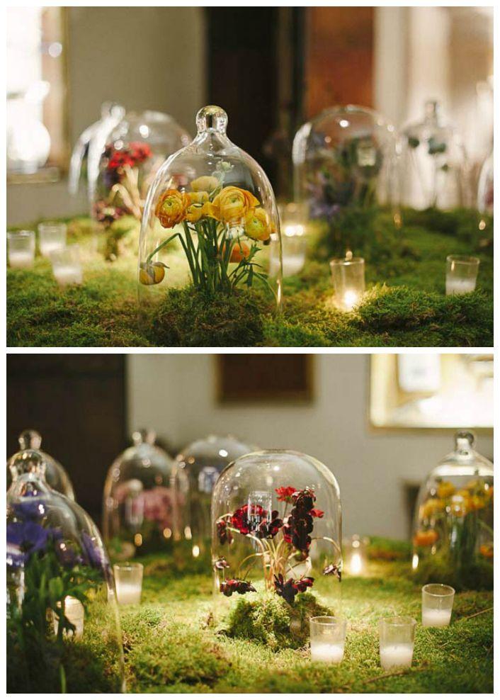 Tendencias: Decoración con campanas de cristal. Brumalis.