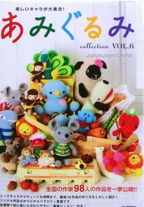 Amigurumi Zeitschrift Vol 2 : Amigurumi Collection Vol.6 - Japanese Crochet Pattern Book ...