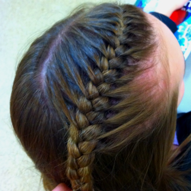 perfect tight french braid beauty