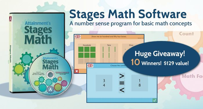 Win Your Own Newly Updated Stages Math Software, a number sense program for basic math concepts. ($199 value!)