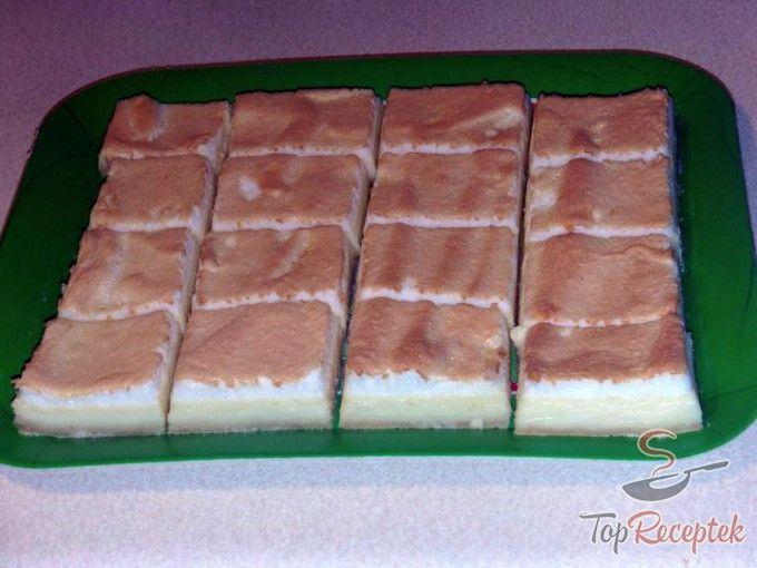 Túrós-tojáshabos kocka leveles tésztán