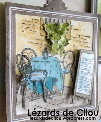 Cécile Ortiz:  Stampin' Up Mediterranean Moments; watercolor; 3D elements