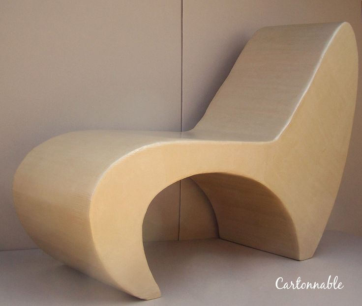 753 best images about meubles en carton on pinterest for Paper mache furniture ideas