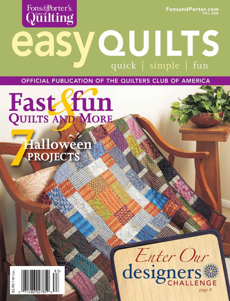 Fons & Porter's Easy Quilts, Fall 2008 Issue by New Track Media