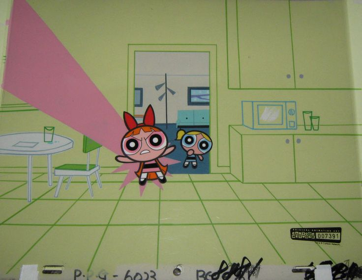 Original production cel  - Powerpuff Girls (Cartoon Net)  | eBay
