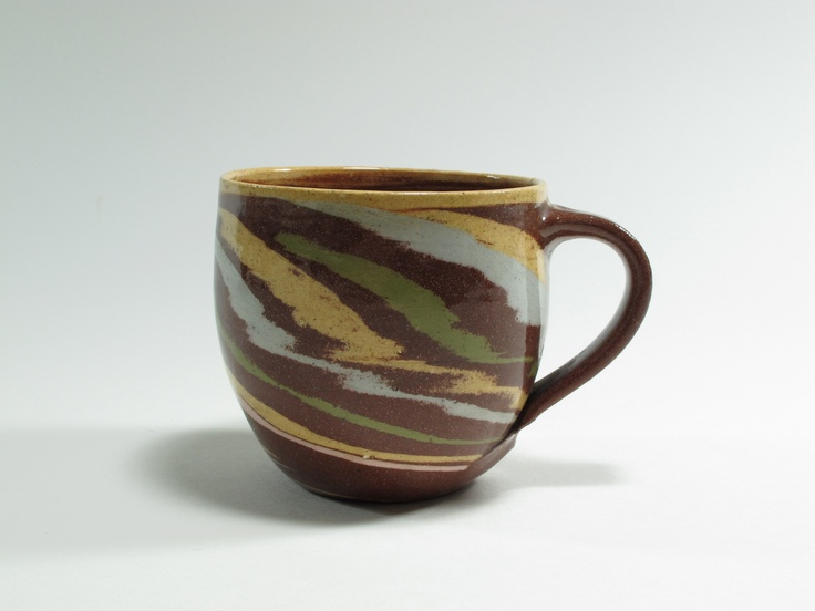 Warren Tippett, mug, agate ware, 1980s, Auckland, New Zealand. Collection of Auckland Museum, K6562