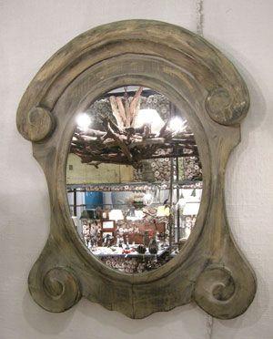 Miroir en bois ovale Volutes Chehoma