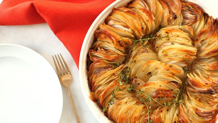 Roasted Crispy Potatoes - Everyday Food with Sarah Carey --buttery spread will work instead of butter for non-dairy