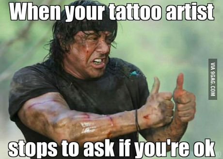 Image result for tattoo pain meme