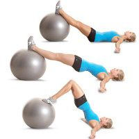 Butt exercisesFit, Stability Ball, Lower Ab, Health Magazine, Women Health, Legs Curls, Better Butt, Ball Workout, Butt Workout