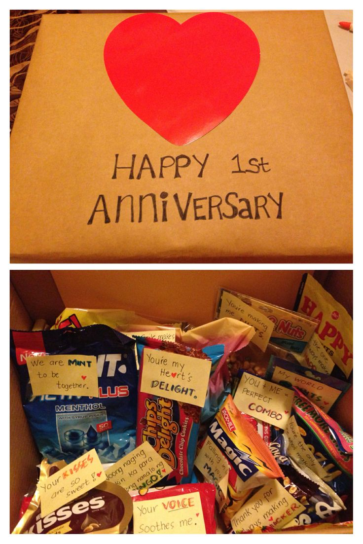 My first anniversary gift to my boyfriend sweet for Boyfriend gifts for anniversary