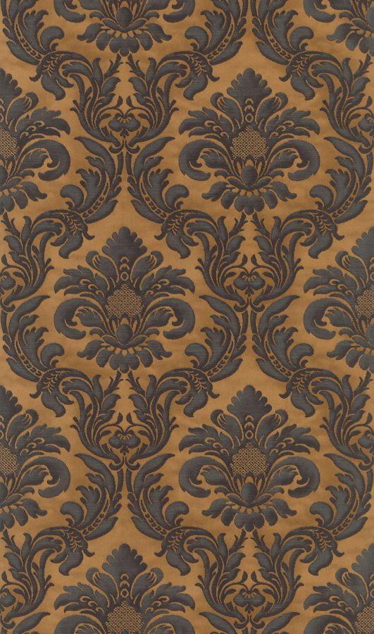Rasch Trianon XI - 515046 Vlies Tapete Ornamente Barock schwarz natur erdtöne