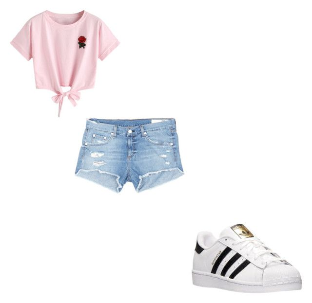 """#408"" by aureeliet on Polyvore featuring WithChic, rag & bone/JEAN and adidas"