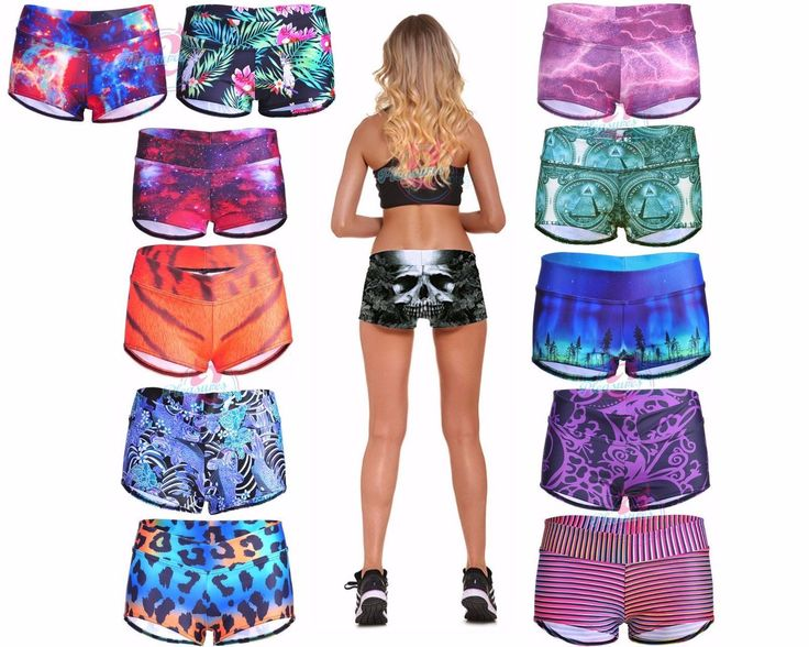 Womens Low Cut Volleyball Spandex Shorts Yoga Workout Wear Stretchy Running