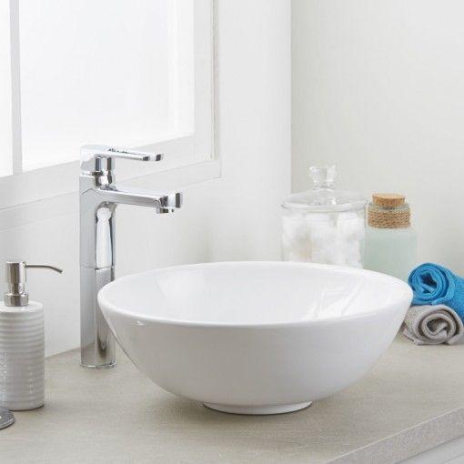 Ora White Ceramic Counter Top Basin