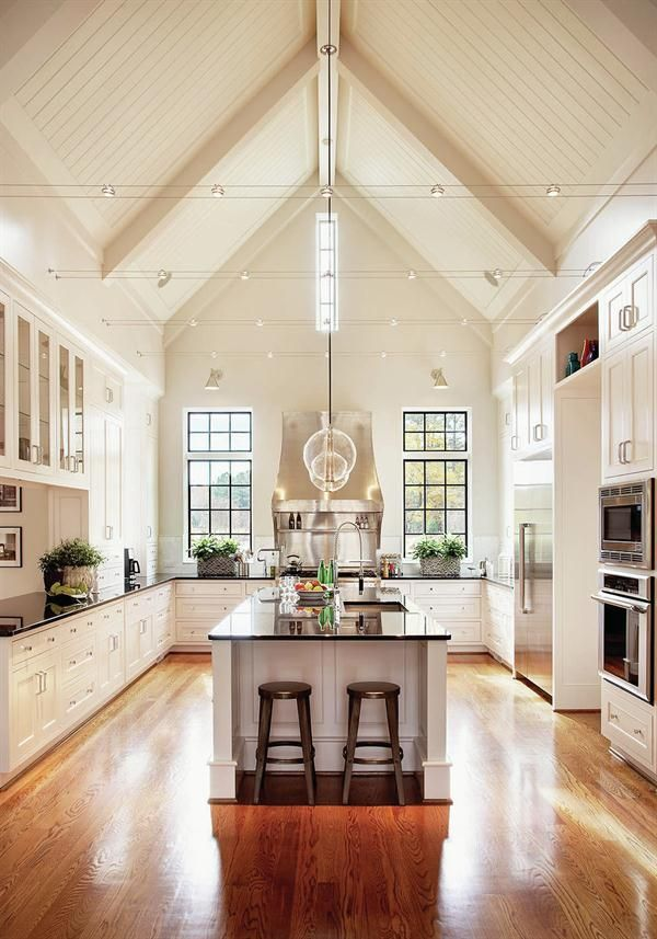 i love the large vaulted ceiling in the kitchen i would love vaulted ceilings above the kitchen and family room find this pin and more on kitchen u0026 bath