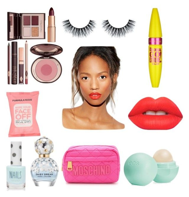 Beauty in Love by fourleafclover011 on Polyvore featuring polyvore, beauty, Lime Crime, Maybelline, Marc Jacobs, Eos, Formula 10.0.6, Charlotte Tilbury, Moschino and Topshop